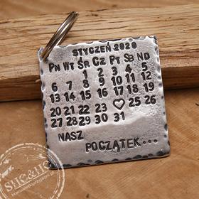 Brelok  do kluczy - Kalendarz  - prezent na rocznicę