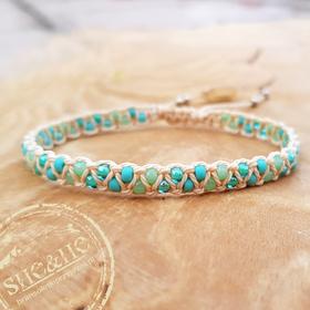 Bransoletka z koralikami - Cukierek Blue mint