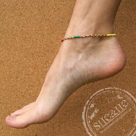 Bransoletka na nogę- Simple - rasta